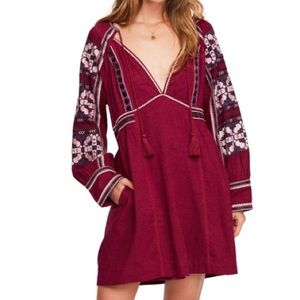 NWT Free People All My Life Embroidered Dress